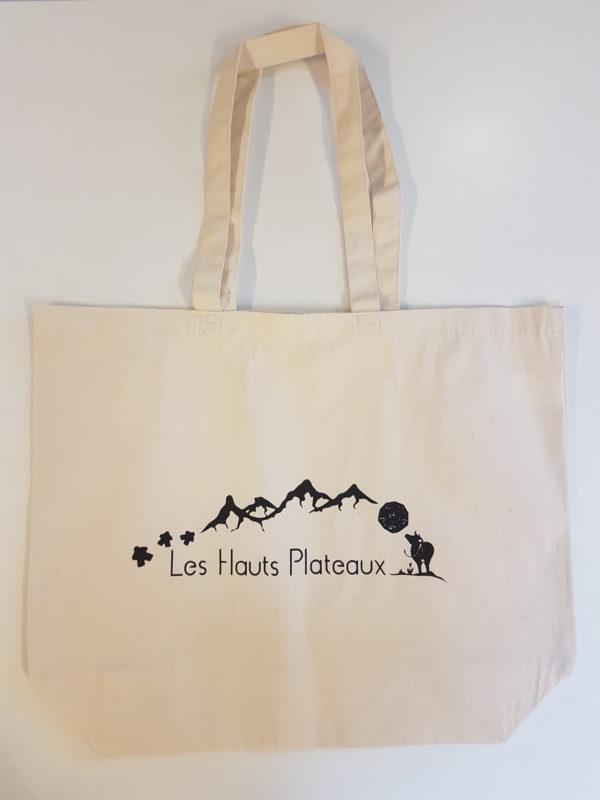 Tote Bag Les Hauts Plateaux Logo soufflet
