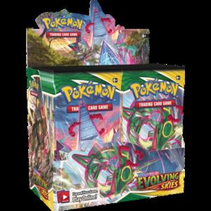 Pokémon Sword and Shield Evolving Skies booster display